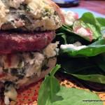 Spinach Artichoke Dip Bread Burger